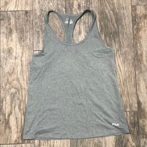 Grey workout tank top